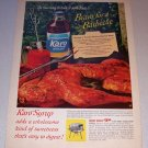 1963 Karo Syrup Color Print Ad - Bravo For A Barbecue