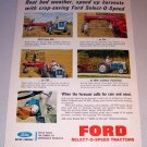 1963 Ford Select-O-Speed Farm Tractors Color Print Ad