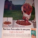 1963 Gravy Train Dog Food Barn Scene Color Print Ad