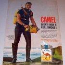 1963 Print Ad Camel Cigarettes Tobacco Scuba Diver Bill Bunt