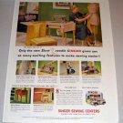1953 Color Print Ad Slant Needle Singer Sewing Machine