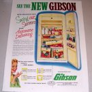 1953 Color Print Ad Gibson Refrigerator