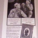 1953 Print Ad Prince Albert Pipe Tobacco George Murphy Earl Kresge