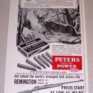 1953 Print Ad Peters 30-06 Springfield Cartridge Shells Deer Animal Art