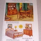 1953 Color Print Ad Drexel American Traditional Furniture