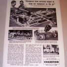 1953 Print Ad Champion Spark Plugs Clarence Chatfield Waukesha Wisconsin