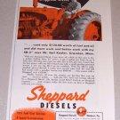 1953 Print Ad Sheppard Diesel SD3 Farm Tractor Earl Keeler Graceton Minn.