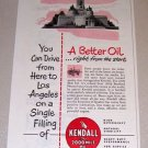 1953 Print Ad Kendall Motor Oil Lincoln Memorial Springfield Illinois