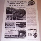 1953 Print Ad Champion Spark Plugs Biltmore House Dairy Farm Albert Clark Asheville North Carolina