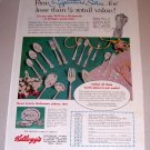 1953 Color Print Ad Wm. Rogers Kellogg's Signature Silver Silverplate Flatware