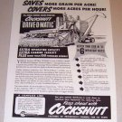 1953 Print Ad Cockshutt Drive-O-Matic Farm Combine