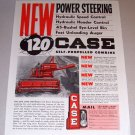 1954 Case 120 Self Propelled Combine Color Print Ad
