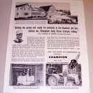 1954 Print Ad Champion Spark Plugs Murray Kenney Presque Isle Maine
