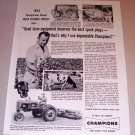 1954 Print Ad Champion Spark Plugs Ernest Kupferschmid Ellington Conn.