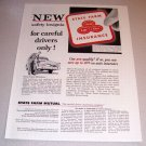 1954 State Farm Insurance Safety Insignia Print Ad