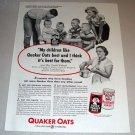 1954 Print Ad Quaker Oats Oatmeal Mrs Creola Wieland Kawkawlin Michigan
