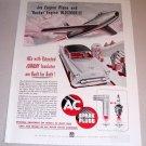 1954 Print Ad AC Spark Plugs Oldsmobile Automobile Jet Plane