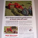 1954 Color Print Ad New Holland 66 PTO Hay Baler Farm Implement