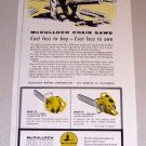 1954 McCulloch Model 33 47 Chain Saws Print Ad