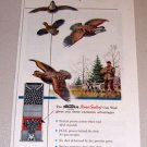 1954 Color Print Ad Western Xpert Shotgun Shells Pheasant Bird Hunting Art