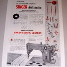 1954 Swing Needle Singer Automatic Sewing Machine Print Ad