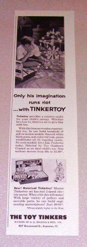 1954 Master Tinkertoy Toys Print Ad