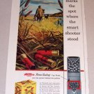 1954 Color Print Ad Western Super X Shotgun Shells Duck Hunting Art