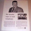 1954 Bell Telephone System Print Ad Supervisor L. E. Slawson Mississippi