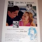 1954 White Rain Lotion Shampoo Color Print Ad