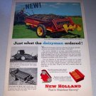 1956 New Holland Model 200 Low Slung Spreader Farm Implement Print Art Ad