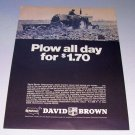 1968 David Brown 1200 Selectamatic Diesel Farm Tractor Print Ad