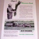 1953 Allis Chalmers Farm Tractor Forage Harvester Print Ad