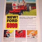 1961 Ford Diesel 6000 Farm Tractor Color Print Ad