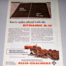 1959 Allis Chalmers D-17 Farm Tractor Color Print Ad