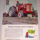 1962 IH International Harvester B-414 Farm Tractor Color Print Ad