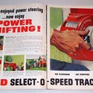 1962 Ford Select-O-Speed Tractors 2 Page Color Print Ad