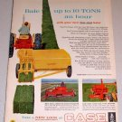 1962 J.I. Case 200 Square Hay Baler Color Print Ad