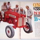 1962 IH International Harvester B-414 Farm Tractor 2 Page Print Ad