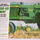 1963 John Deere 3020 and 4020 Diesel Farm Tractors 2 Page Color Print Ad