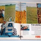 1963 Ford 6000 Diesel Farm Tractor 2 Page Color Print Ad