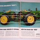 1964 John Deere 2010 and 4020 Diesel Farm Tractors 2 Page Color Print Ad