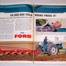 1964 Ford 6000 Diesel Farm Tractor 2 Page Color Print Ad