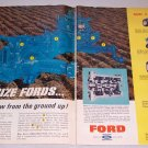 1965 Ford Farm Tractors Frame 2 Page Color Print Ad