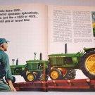 1966 John Deere Farm Tractors 2 Page Color Print Ad