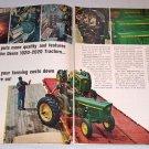 1966 John Deere Farm Tractors 4 Page Color Print Ad