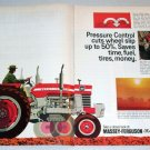 1968 Massey Ferguson 180 Farm Tractor Color Art 3 Page Color Print Ad