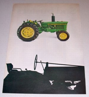 1968 John Deere 1020 Farm Tractor and 95 Combine 4 Page Color Print Ad