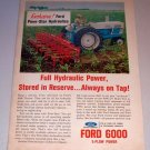 1963 Ford Diesel 6000 Farm Tractor with 6 Row Cultivator Color Print Ad