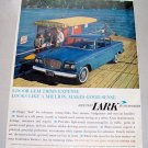 1960 Studebaker Lark Car Ferryboat Color Print Ad