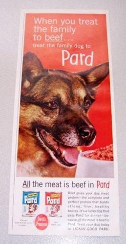 1961 Pard Dog Food Color Print Ad
